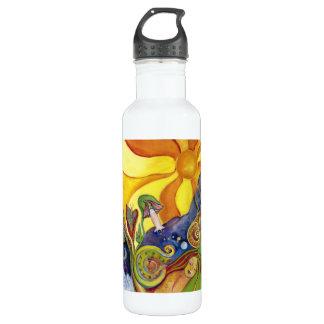 Sunshine Dream Garden Of Delights Art Stainless Steel Water Bottle
