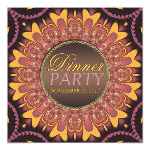 Sunshine Earth Love Dinner Party Invitation