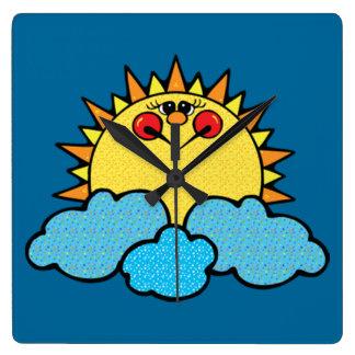 sunshine face clock