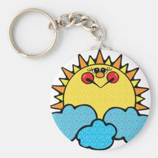 sunshine face keychain