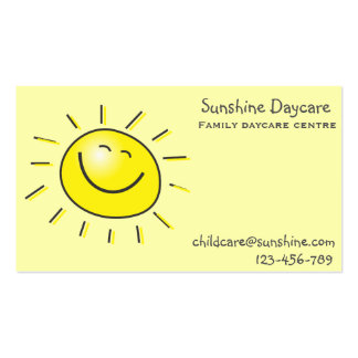 Sunshine family daycare centre childcare Double-Sided standard business cards (Pack of 100)