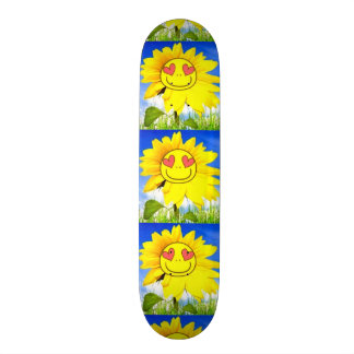 Sunshine flower i love you so funny happy bliss custom skateboard