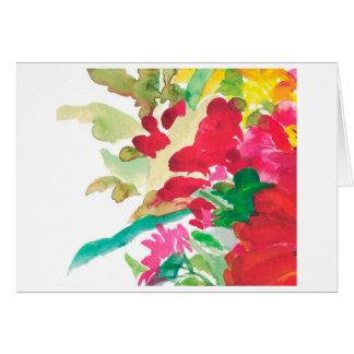 Sunshine flowers watercolor card