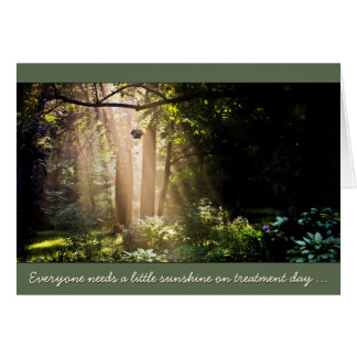 Sunshine for Cancer Patient Treatment Day Card