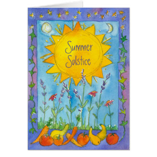 Sunshine Fruit Nature Watercolor Summer Solstice Card