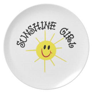 Sunshine Girl Plates