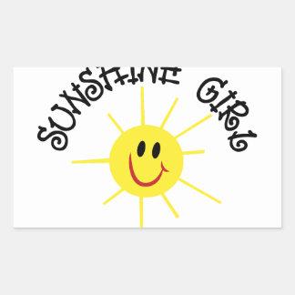 Sunshine Girl Rectangular Sticker
