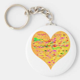Sunshine Golden Heart Keychain