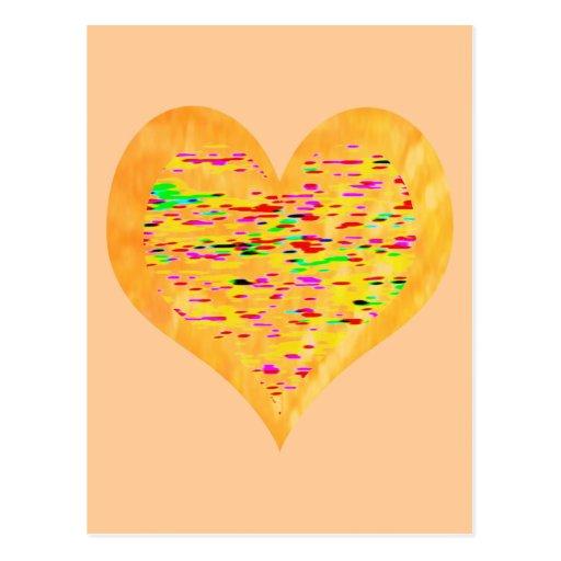 Sunshine Golden Heart Postcards