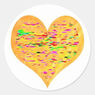 Sunshine Golden Heart Stickers