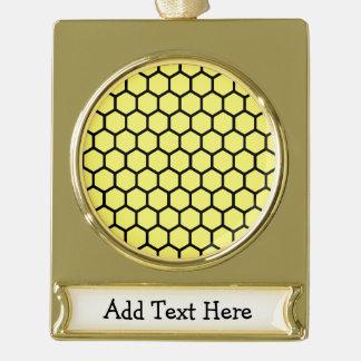 Sunshine Hexagon 4 Gold Plated Banner Ornament