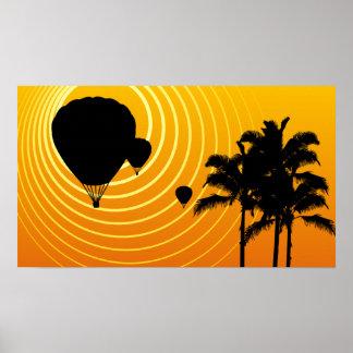 sunshine hot air balloons poster