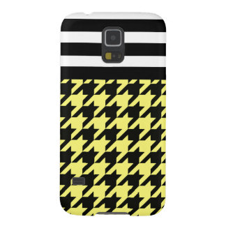 Sunshine Houndstooth w/ Stripes 2 Case For Galaxy S5