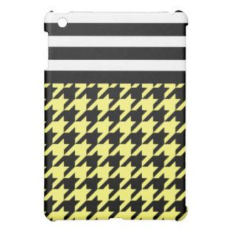 Sunshine Houndstooth w/ Stripes 2 iPad Mini Cover