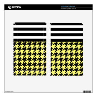 Sunshine Houndstooth w/ Stripes 2 Kindle Fire Decals