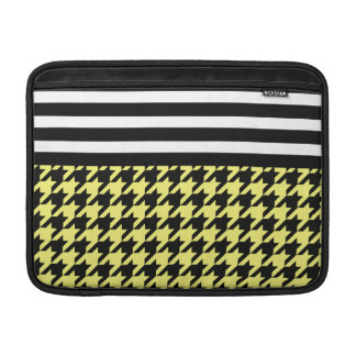 Sunshine Houndstooth w/ Stripes 2 Sleeve For MacBook Air