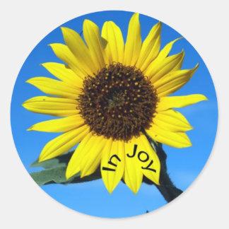Sunshine in joy classic round sticker