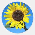 Sunshine in joy round sticker