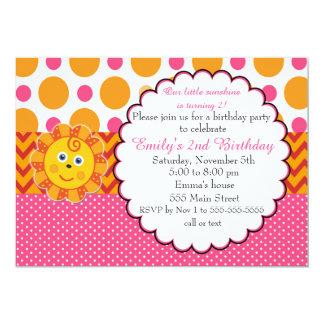 Sunshine Kids Birthday Invitation