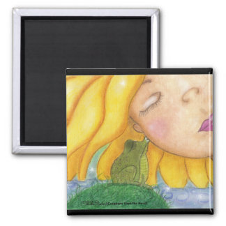 Sunshine Kisses 2 Inch Square Magnet