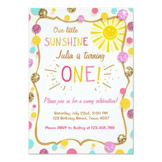 Sunshine Lemonade Birthday Party Invitation