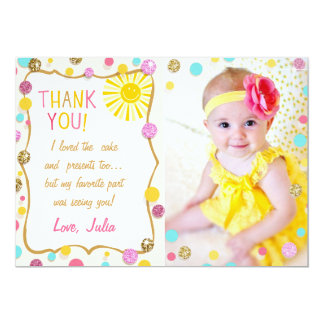 Sunshine Lemonade Birthday Thank You Card
