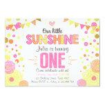 Sunshine Lemonade Pink Birthday Invitation