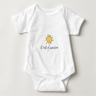 sunshine, lil' ball of sunshine baby bodysuit