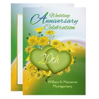 Sunshine Love 20th Wedding Anniversary Party Card