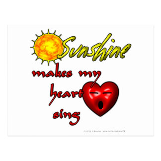 Sunshine makes my heart sing postcard