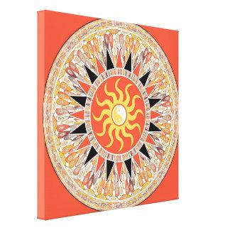 Sunshine mandala canvas print