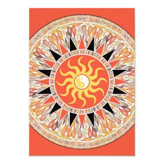 Sunshine mandala card