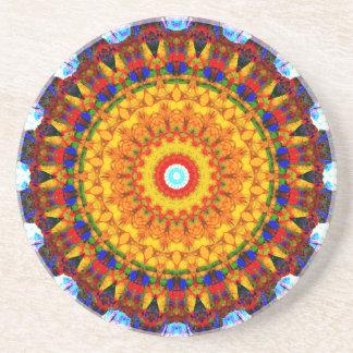 Sunshine Mandala Drink Coaster