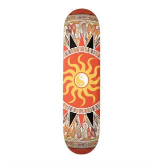 Sunshine mandala skateboard deck