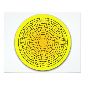 Sunshine Maze Custom Invitation