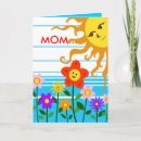 Sunshine Mother's Day Card - Let your mom know she is the sunshine in your life with this cute design!