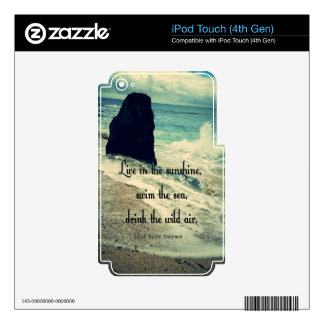 Sunshine ocean sea quote iPod touch 4G skins