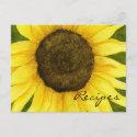 Sunshine On A Stick Recipe Card postcard