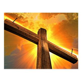 Sunshine On A Wooden Cross Postcard