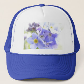 Sunshine On Blue Forget Me Nots Trucker Hat