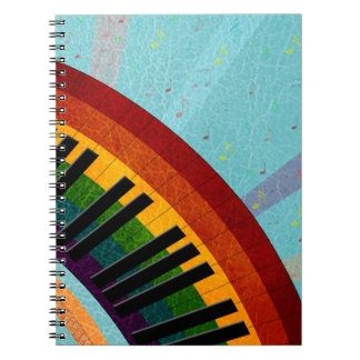 sunshine on water reflections round piano note books