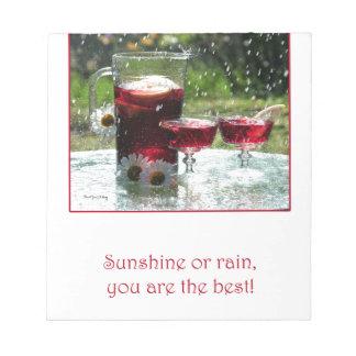 Sunshine or Rain Notepad