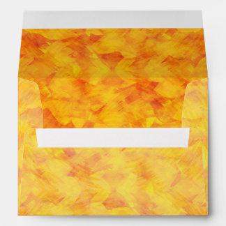 Sunshine Orange Yellow Painted Pretty Summer Color Envelope