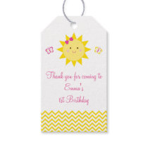 Sunshine Party Favor Tags You Are My Sunshine