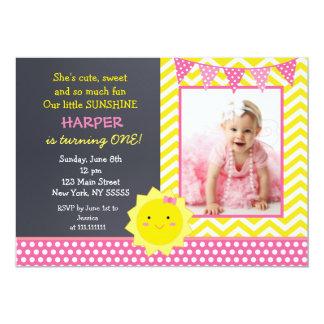 Sunshine Photo Birthday Party Invitation
