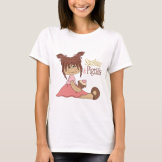 Sunshine & Pigtails Design T-Shirt
