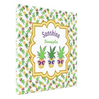 Sunshine Pineapples Canvas Print