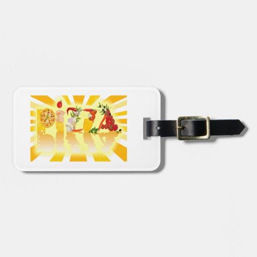 Sunshine Pizza Travel Bag Tags