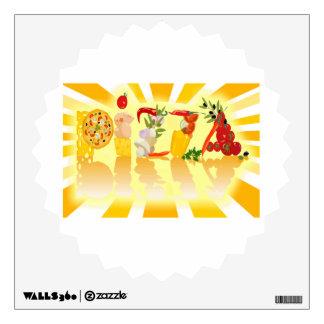 Sunshine Pizza Wall Graphics