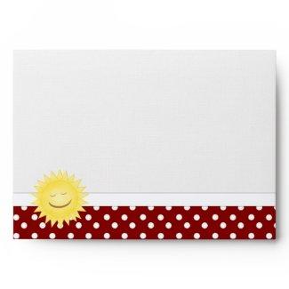 Sunshine & Polka Dot Envelope envelope